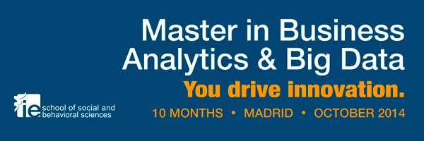 Master in Business Analytics and Big Data