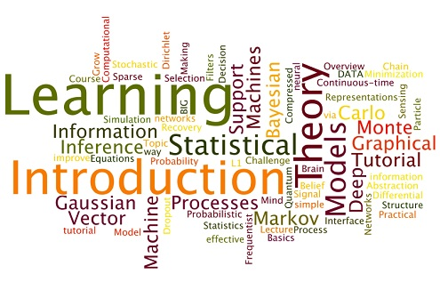 Word cloud of the top machine learning lectures